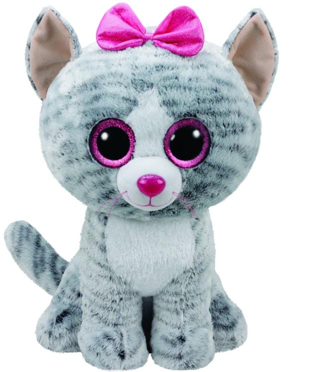 BEANIE BOOS LARGE KIKI - GREY CAT
