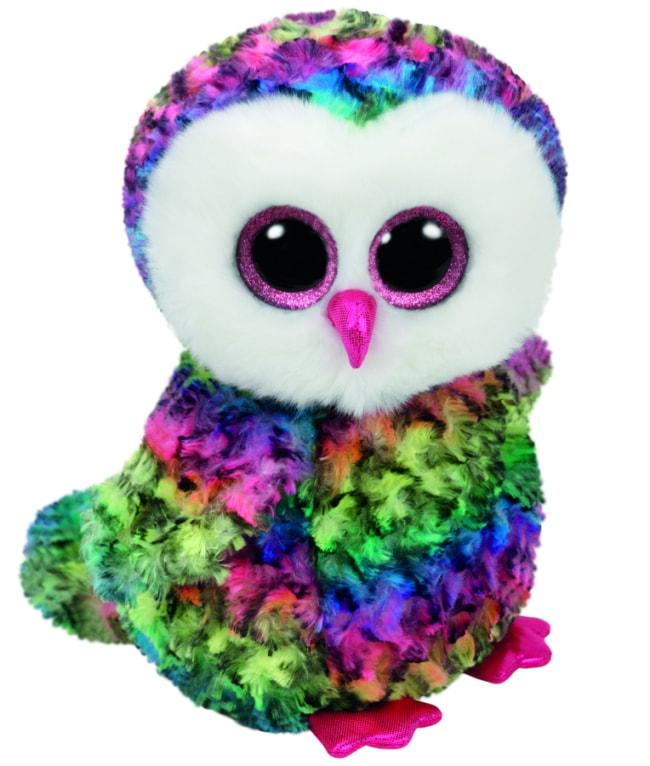 BEANIE BOOS MEDIUM OWEN - MULTICOLOUR OWL