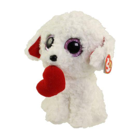 BEANIE BOOS REGULAR HONEY BUN - WHITE DOG