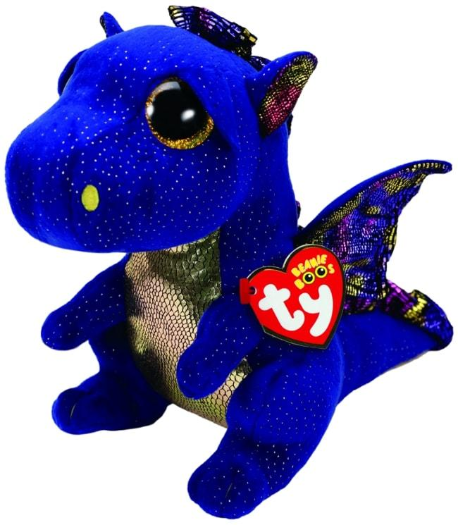 BEANIE BOOS MEDIUM SAFFIRE - BLUE DRAGON