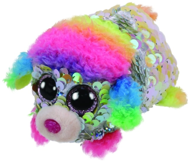TEENY TYS RAINBOW - SEQUIN MULTICOLOURED POODLE
