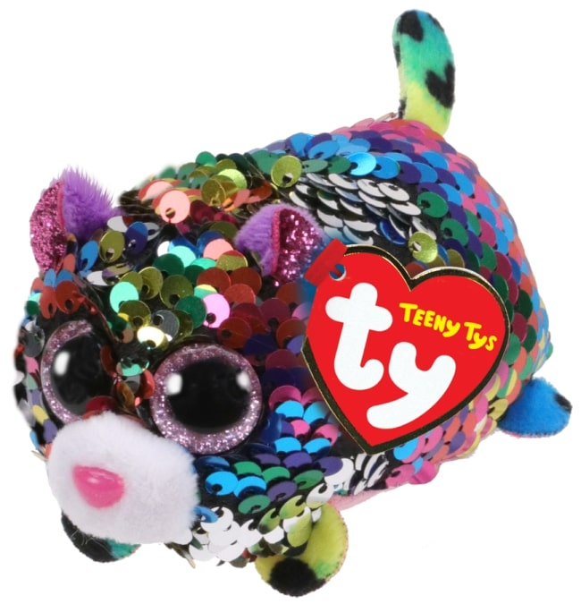 TEENY TYS DOTTY - SEQUIN MULTICOLOURED LEOPARD