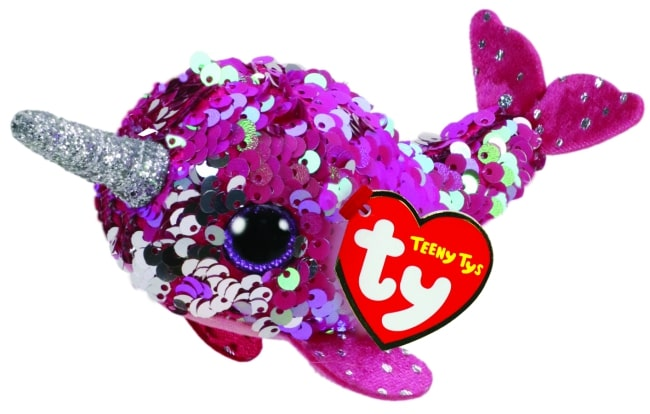 TEENY TYS NELLY - SEQUIN PINK NARWHAL