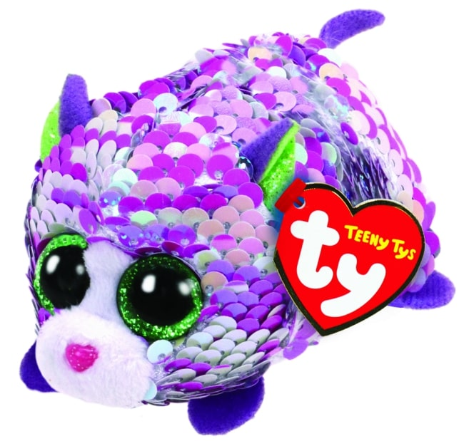 TEENY TYS LILAC - SEQUIN PURPLE CAT