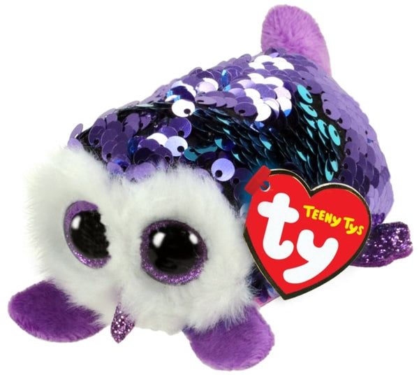TEENY TYS MOONLIGHT - SEQUIN PURPLE OWL