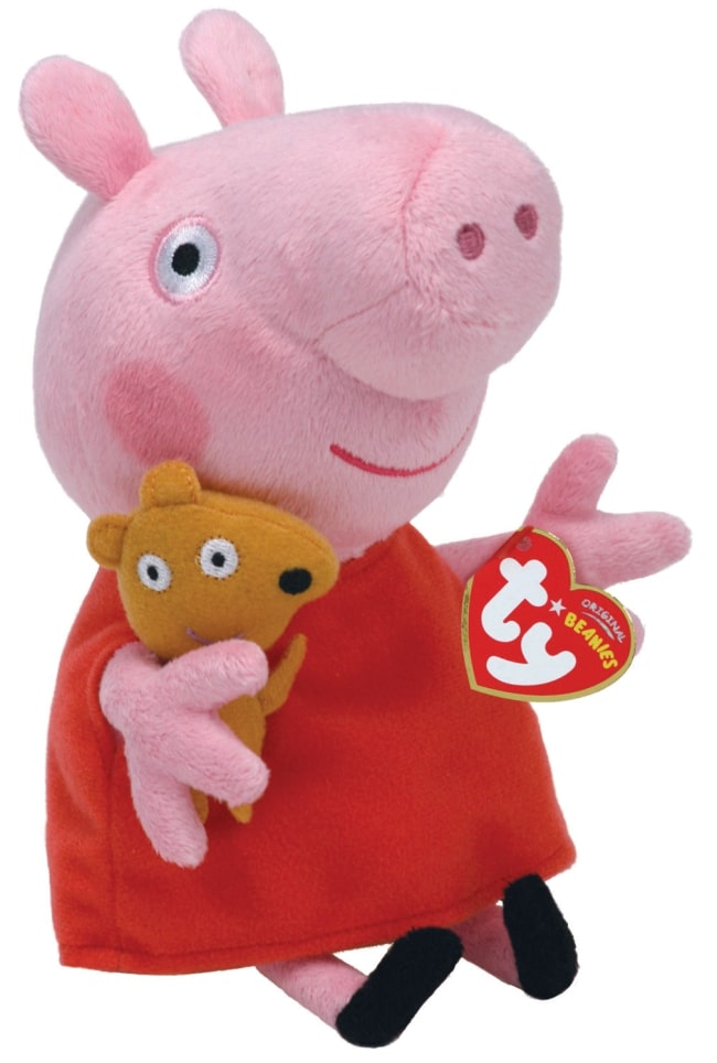 Peppa Pig Red Dress Regular Beanie Babies