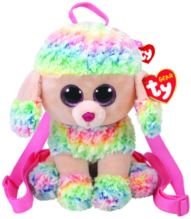 TY GEAR BACKPACK RAINBOW - MULTICOLOURED POODLE