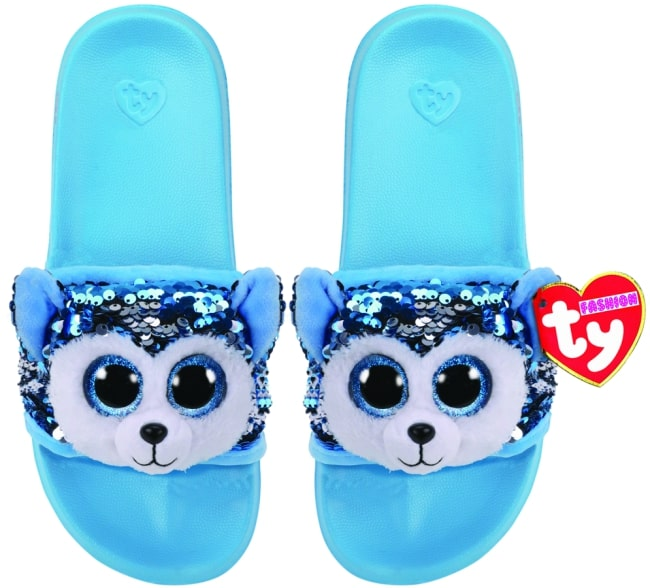 TY FASHION SEQUIN SLIDES SLUSH - LARGE