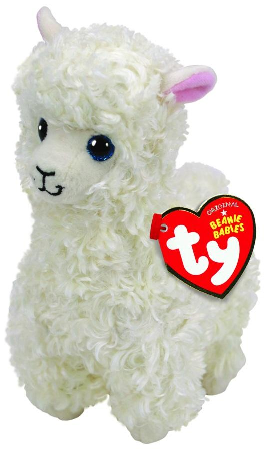 BEANIE BABIES MEDIUM LILY - CREAM LLAMA