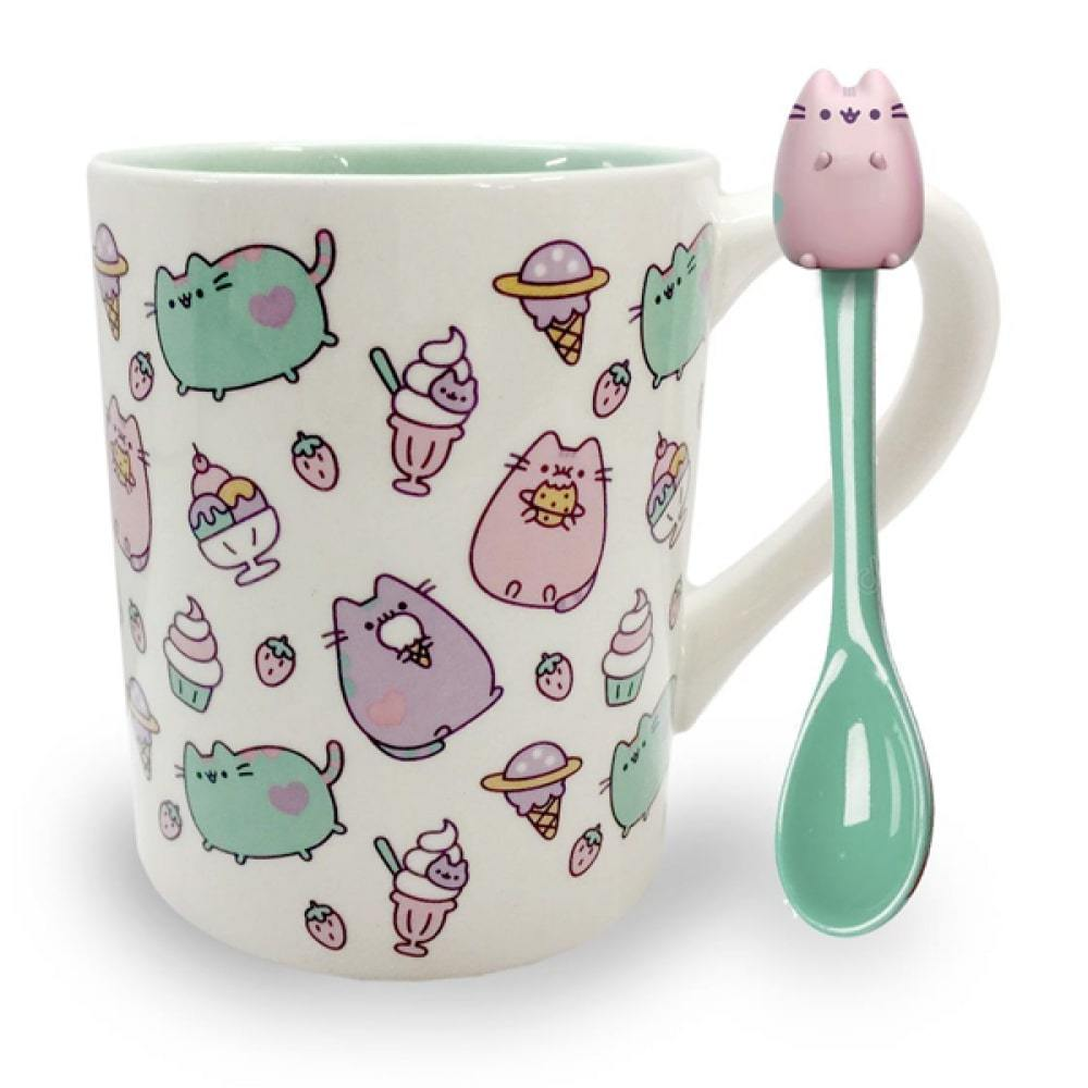 PUSHEEN MUG WITH SPOON
