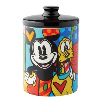 Mickey Mouse and Pluto Cannister - Small