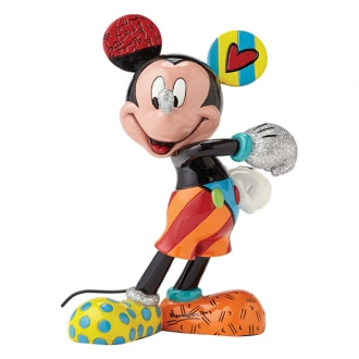 DISNEY BRITTO MICKEY MOUSE CHEERFUL MEDIUM COLLECTIBLE FIGURINE
