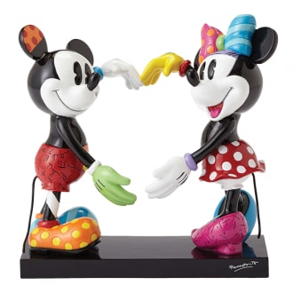 DISNEY BRITTO MICKEY AND MINNIE MOUSE LARGE COLLECTIBLE FIGURINE