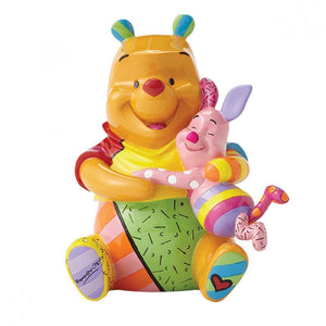 DISNEY BRITTO POOH BEAR AND PIGLET LARGE COLLECTIBLE FIGURINE