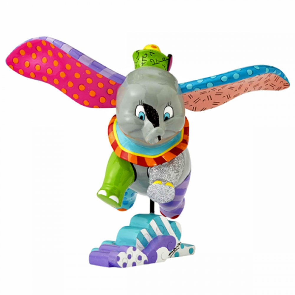 DISNEY BRITTO FLYING DUMBO LARGE COLLECTIBLE FIGURINE
