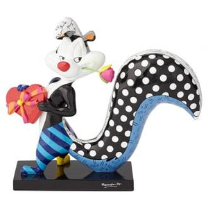 LOONEY TUNES BRITTO PEPE LE PEW FLOWER LARGE COLLECTIBLE FIGURINE