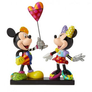DISNEY BRITTO MICKEY & MINNIE WITH BALLOON NUMBERED LIMITED EDITION