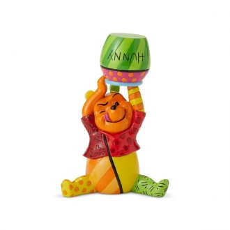 DISNEY BRITTO MINI FIGURINE POOH WITH POT
