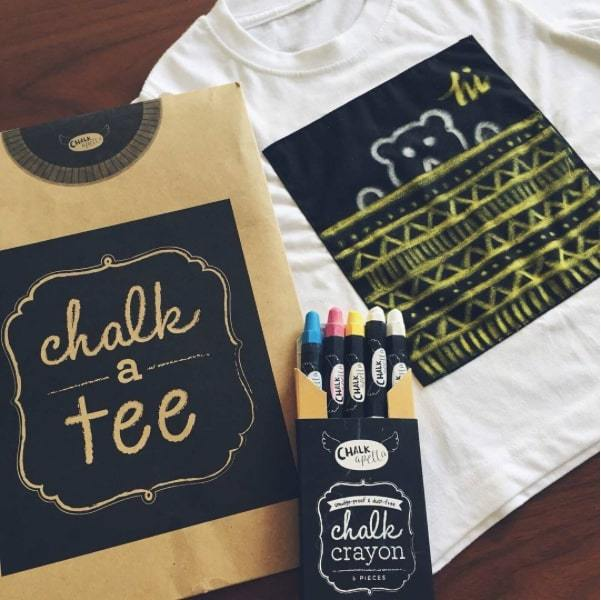 CHALK A TEE CLASSIC ADULT WHITE SMALL