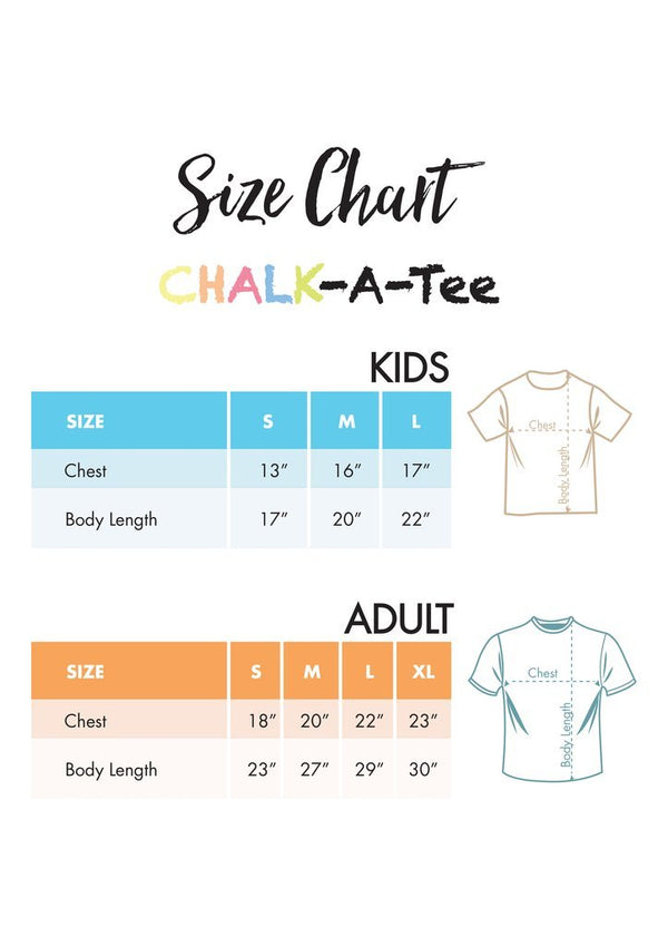 CHALK A TEE CLASSIC ADULT WHITE EXTRA LARGE