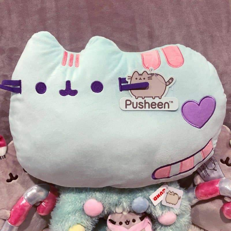 Pusheen Mint Green Pillow