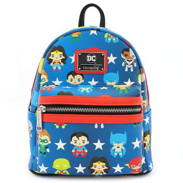 Loungefly x DC Justice League Chibi Print Mini Backpack