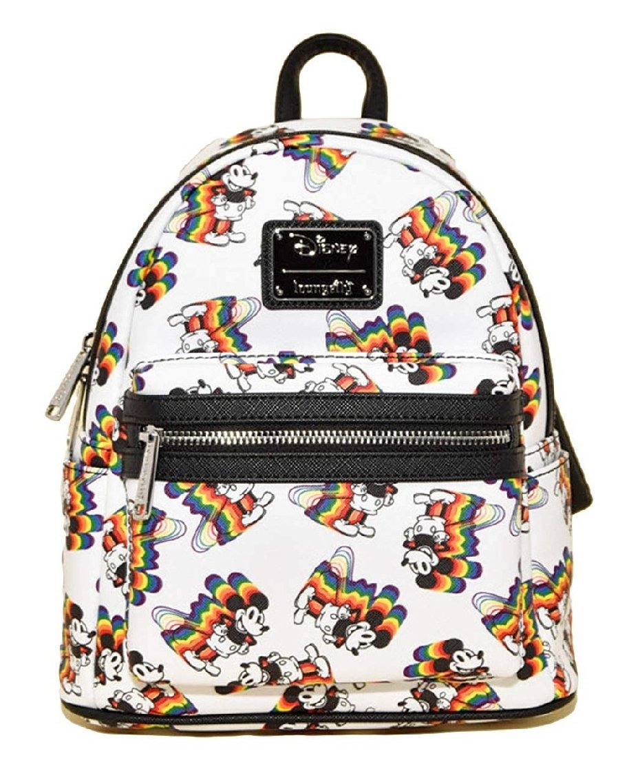 Loungefly x Disney Mickey Mouse Rainbow Print Backpack