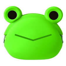 Mimi Pochi friends silicon purse frog