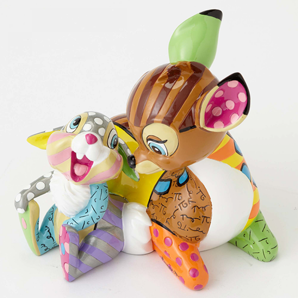 DISNEY BRITTO BAMBI AND THUMPER LARGE COLLECTIBLE FIGURINE