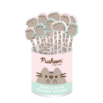 Pusheen Pencils with Eraser Topper