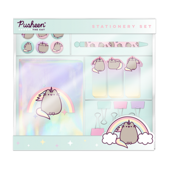 pusheen cute and fierce stationary set