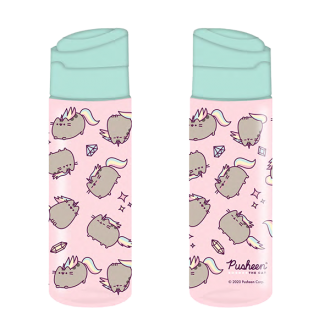 pusheen cute and fierce water bottle