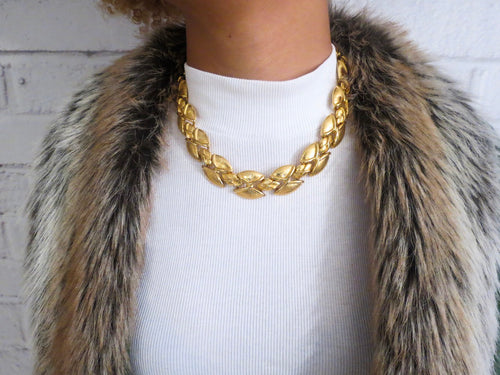 It's A Link Up Chunky Gold Necklace