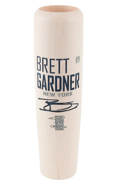 Brett Gardner - Locker Room Edition MLBPA Lumberlend Co. Natural W/ Paint