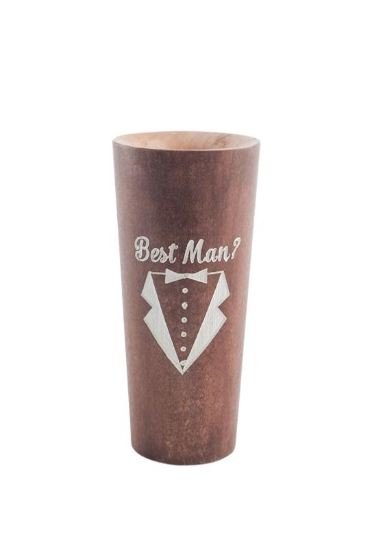 Will You Take a Shot and Be My Best Man? Jamshot™ Jamshot Lumberlend Co.® Vest Mahogany with White