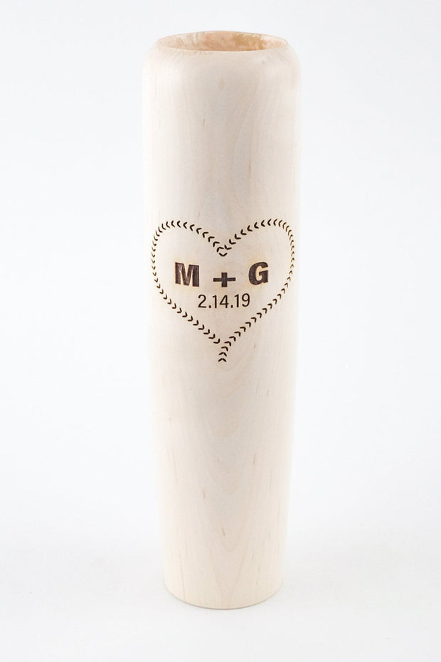 "Personalized Valentine's Gifts  - ""Seams of Love"" Baseball Bat Mug"
