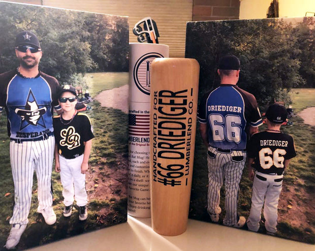 Personalized Bat Mugs, Unique Baseball Christmas Gift, #1 Baseball Christmas Gift | Perfect for Baseball Players, Coaches, and Dads