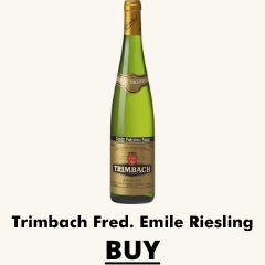 bottle of trimbach f emile riesling