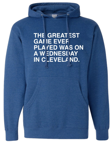 THE GREATEST GAME EVER PLAYED. (HOODIE) - OBVIOUS SHIRTS: For the fans, by the fans
