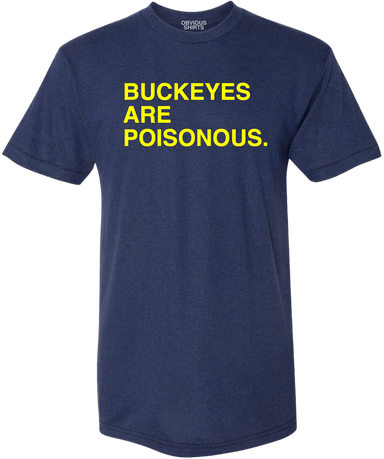 BUCKEYES ARE POISONOUS. - OBVIOUS SHIRTS: For the fans, by the fans