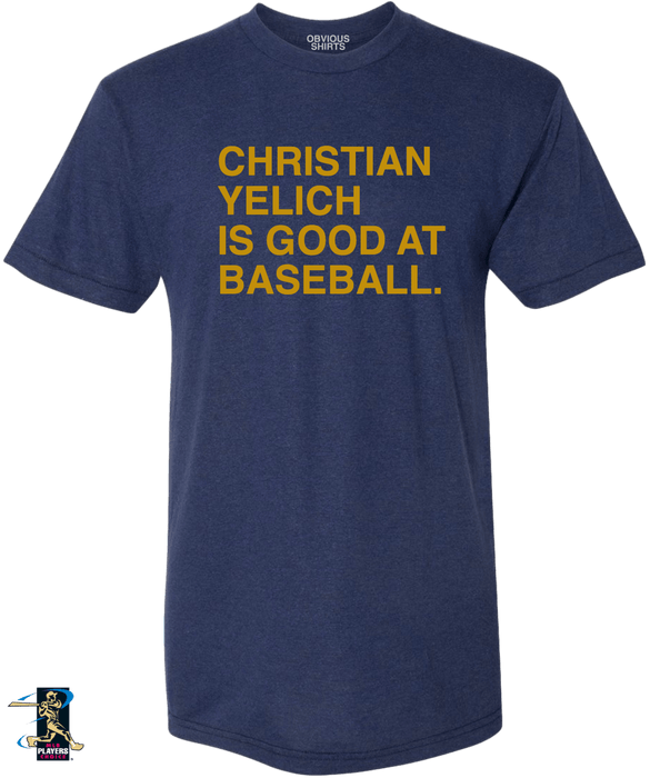 CHRISTIAN YELICH IS GOOD AT BASEBALL. - OBVIOUS SHIRTS.