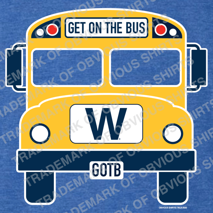 GET ON THE W BUS. - OBVIOUS SHIRTS: For the fans, by the fans