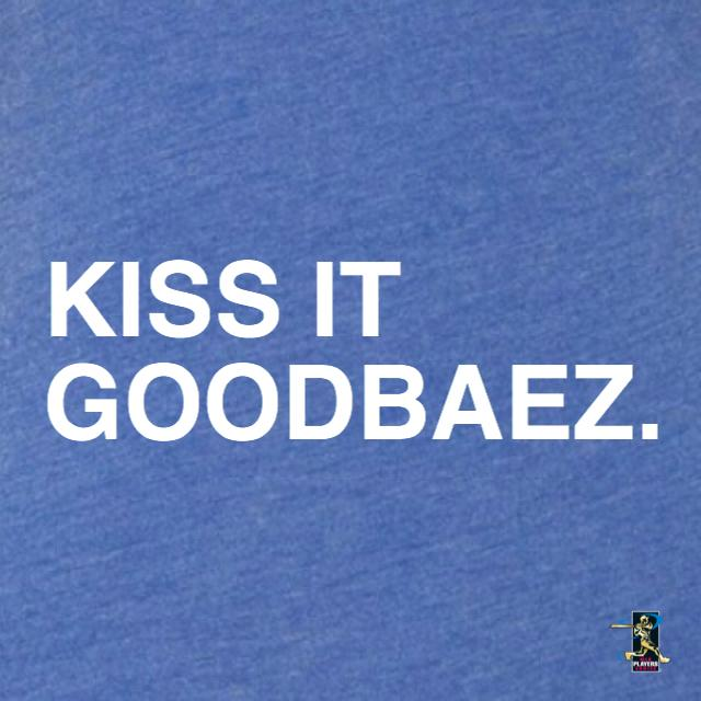 KISS IT GOODBAEZ. (WOMEN'S V-NECK) - OBVIOUS SHIRTS: For the fans, by the fans