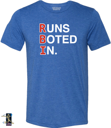 RUNS BOTED IN. - OBVIOUS SHIRTS.