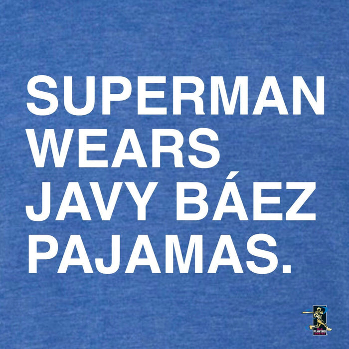 SUPERMAN WEARS JAVY BAEZ PAJAMAS. (YOUTH) - OBVIOUS SHIRTS.