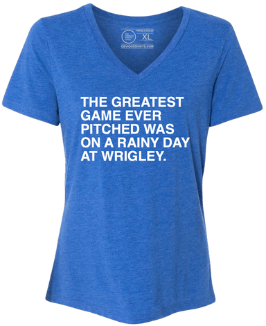 THE GREATEST GAME EVER PITCHED. (WOMEN'S V-NECK) - OBVIOUS SHIRTS: For the fans, by the fans