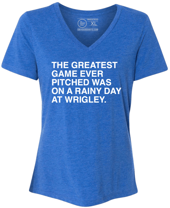 THE GREATEST GAME EVER PITCHED. (WOMEN'S V-NECK) - OBVIOUS SHIRTS.