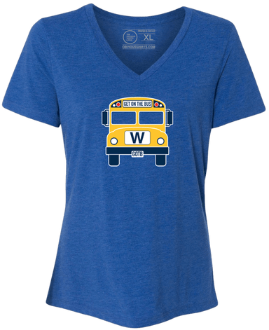 THE W BUS (WOMEN'S V-NECK) - OBVIOUS SHIRTS: For the fans, by the fans
