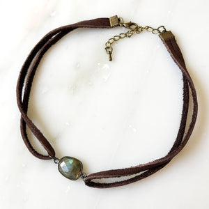 Moon Oasis Leather Choker