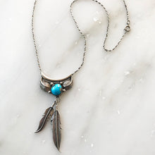 Vintage Silver Turquoise Wing Necklace